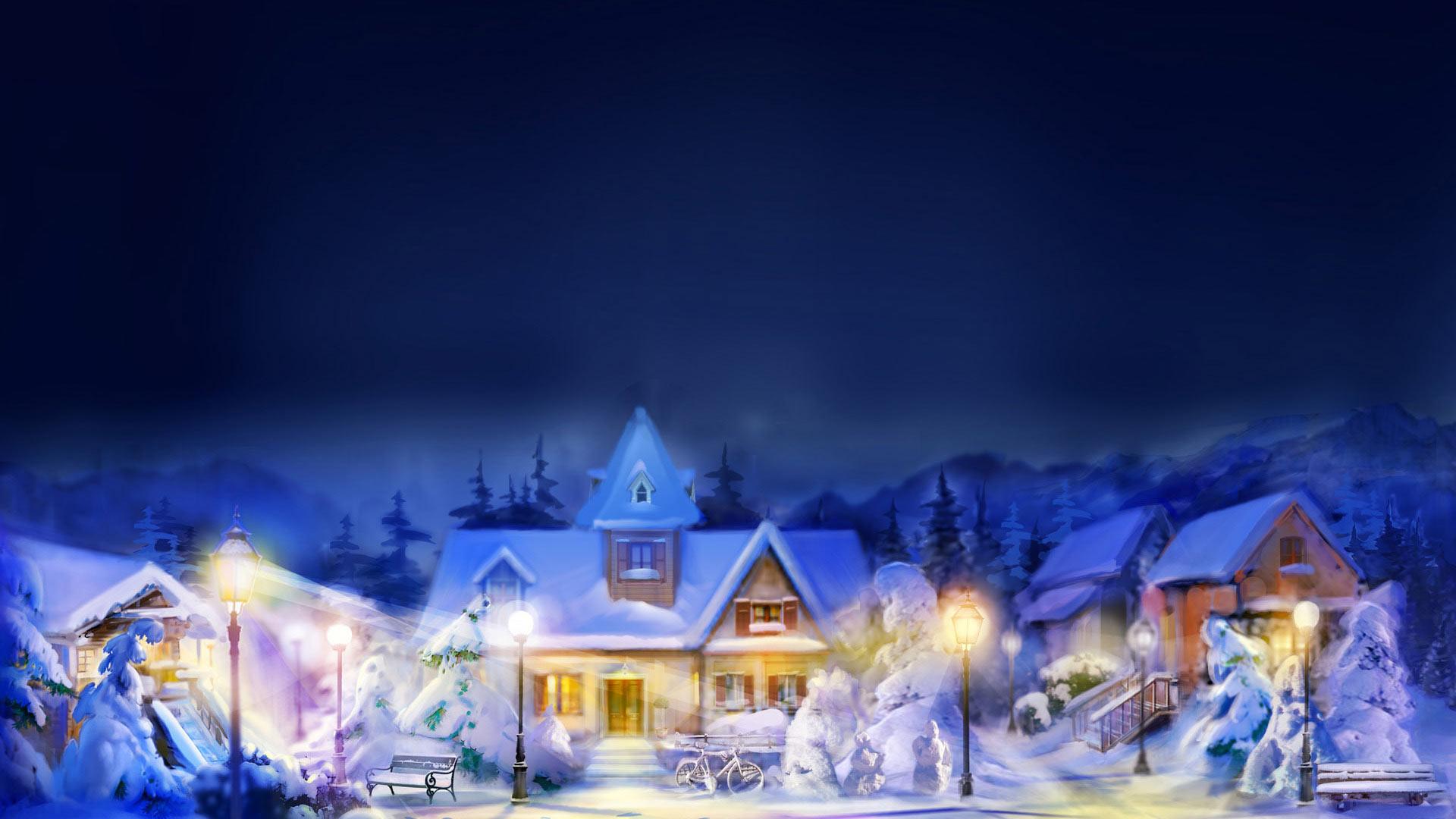 Foto Paesaggi Di Natale.Sfondi Natale Sfondo Natale Paesaggio