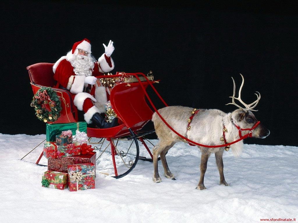 Sfondi Natalizi Renne.Sfondi Natale Sfondo Babbo Natale E Renne