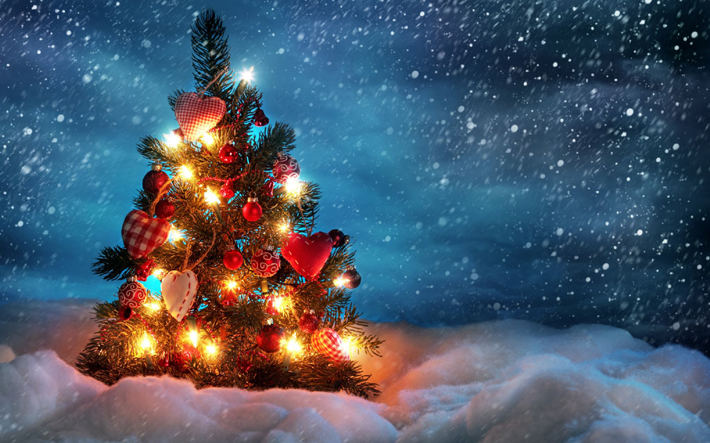Sfondi Natale - Sfondi Desktop Natale con dolce albero