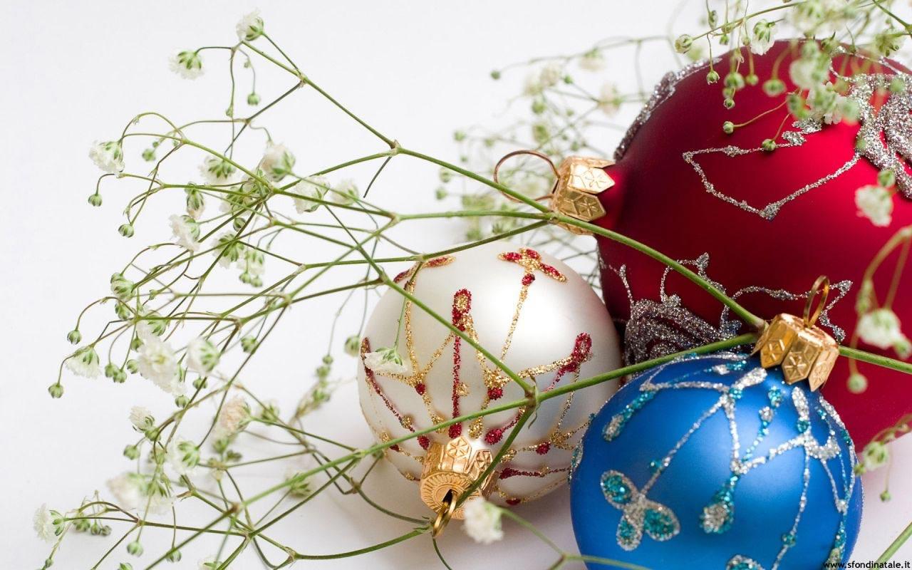 Sfondi Natale - Sfondo di Natale bello con palline colorate