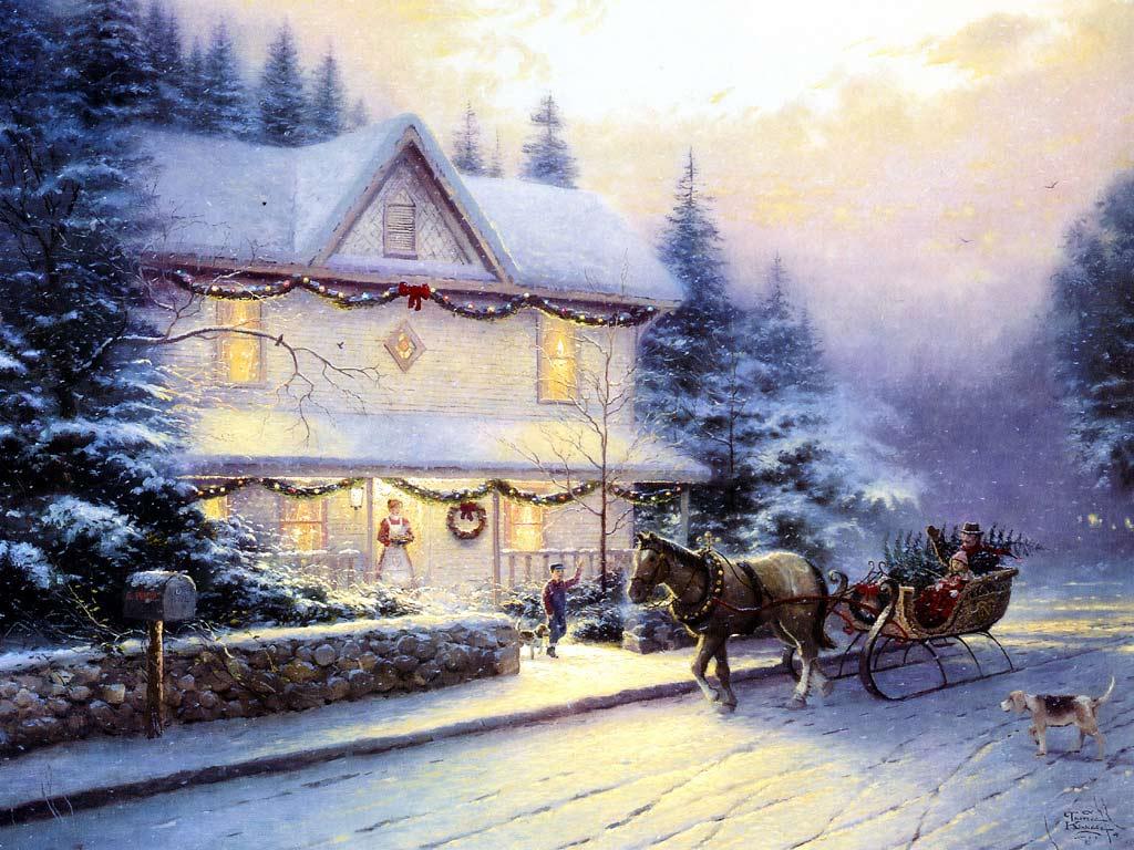 Sfondi Natale - Sfondo di Natale innevato