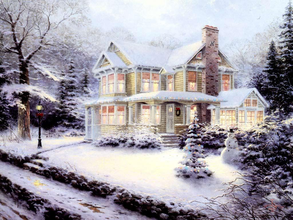 Sfondi Natale - Sfondo di Natale Paesaggio