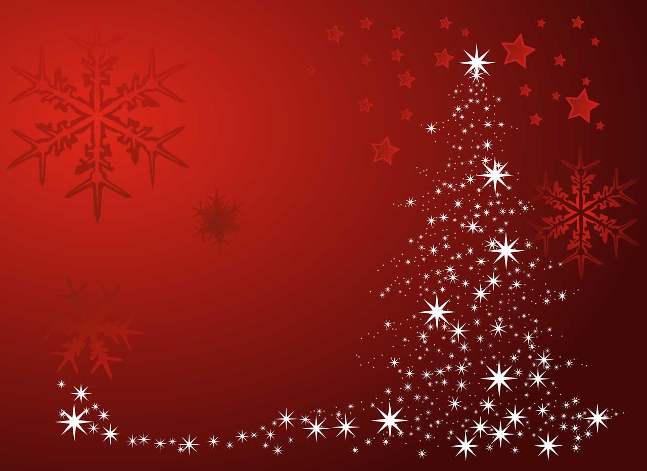 Sfondi Natale - Sfondi Natale albero stelle