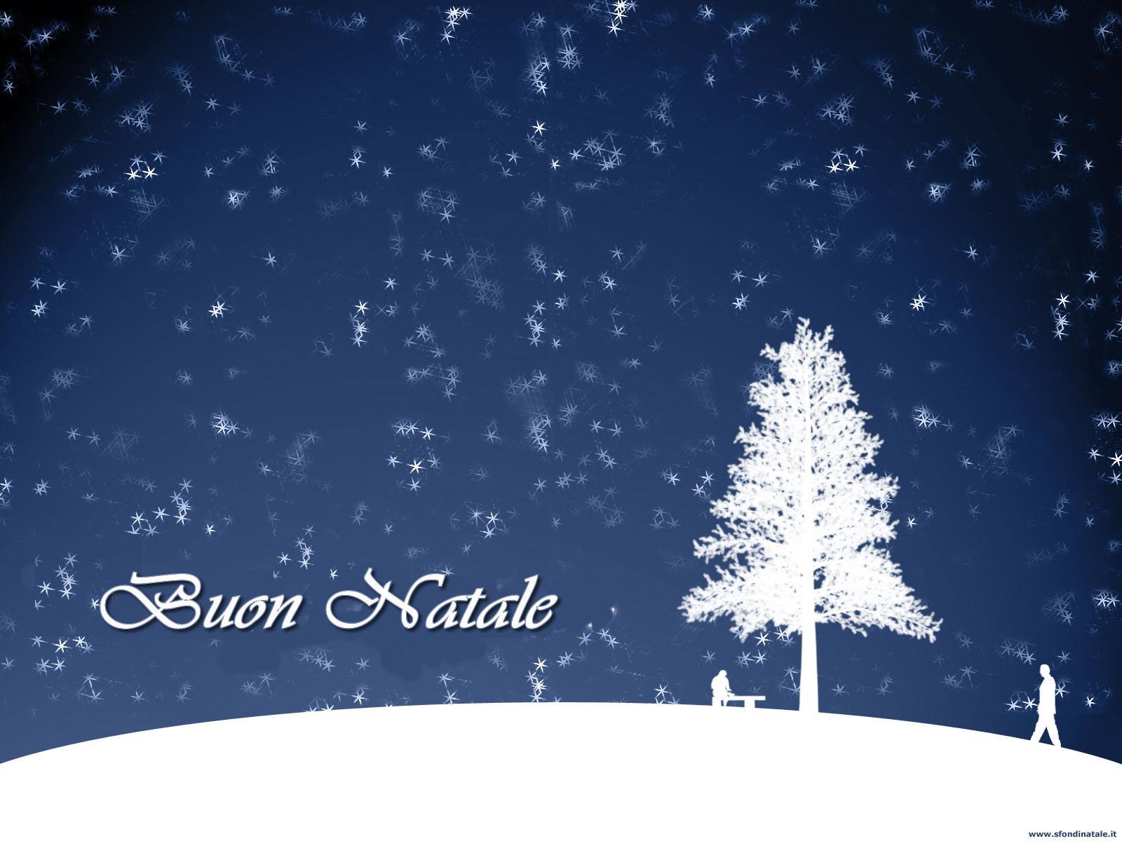 Sfondi Natale - Albero con scritta Buon Natale