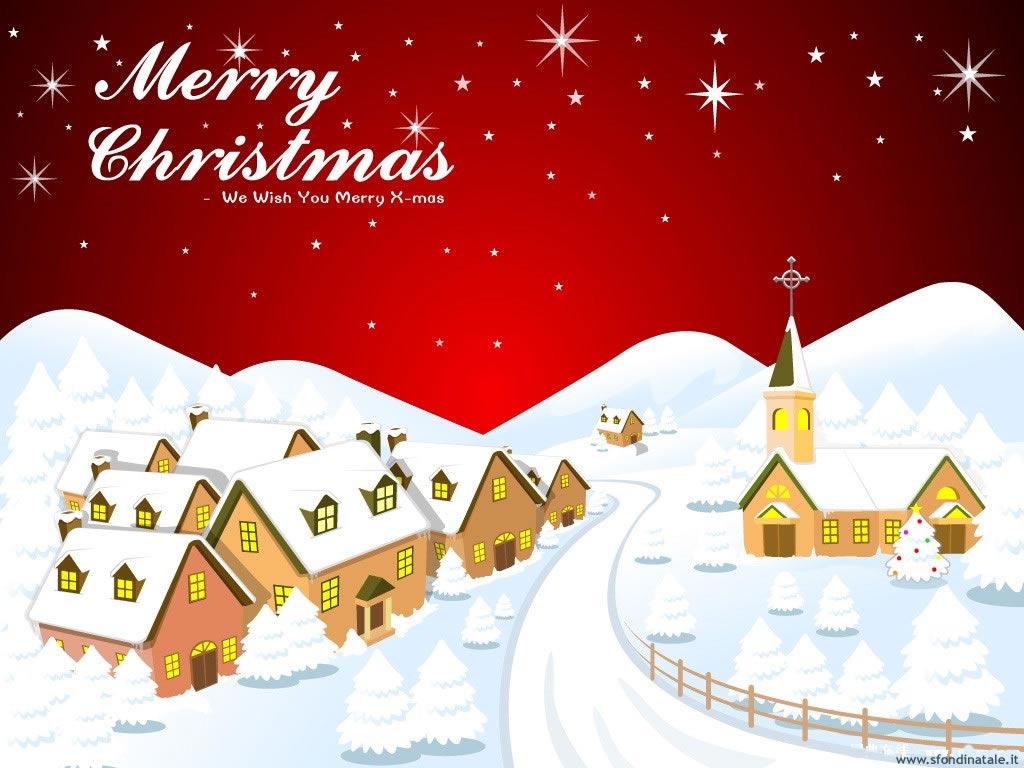 Sfondi Natale - Sfondo Natale paesaggi