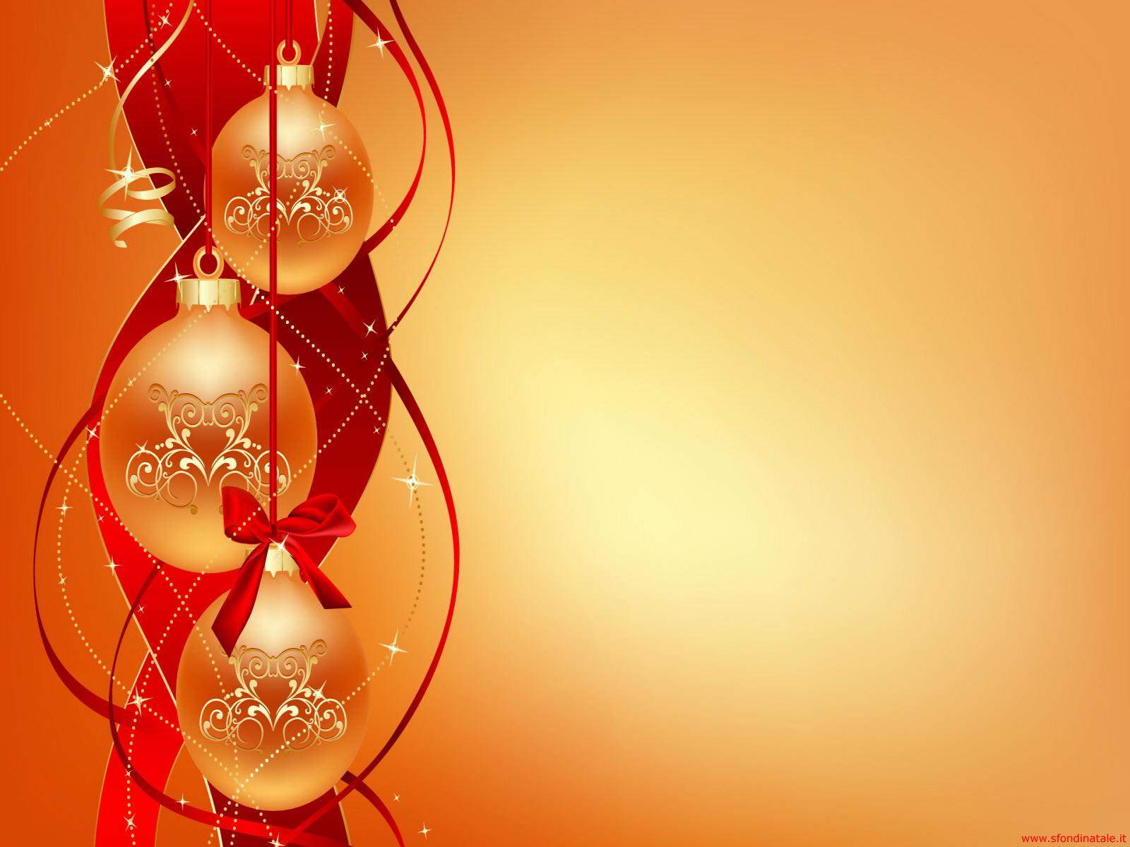 Sfondi Natale - Sfondo Natale palle