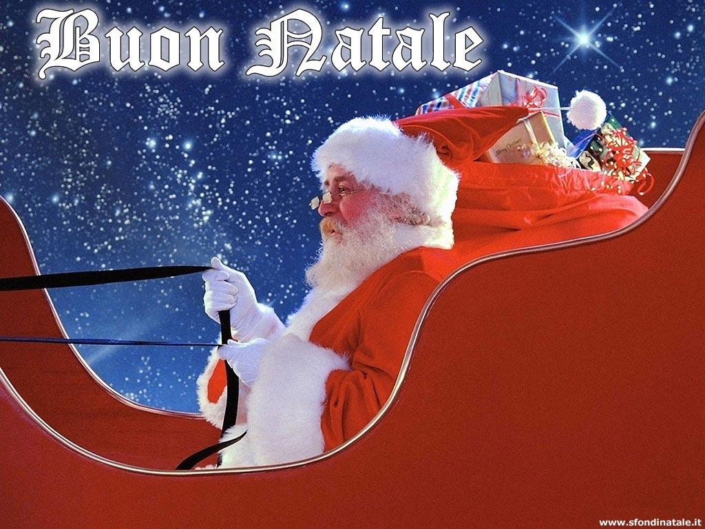 Sfondi Natale - Sfondo Natale slitta Babbo Natale
