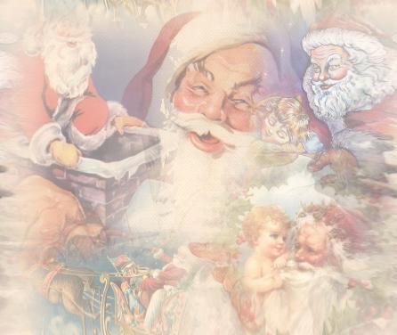 Sfondi Natale - Sfondo Natale con Babbo Natale