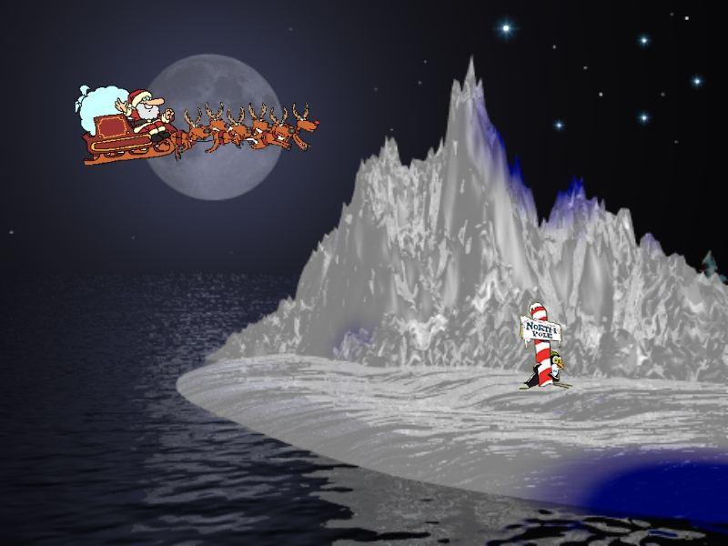 Sfondi Natale - Sfondo di Natale Polo Nord