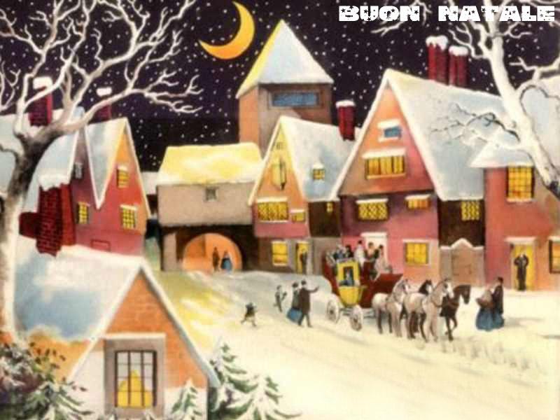 Sfondi Natale - Sfondo paesaggio innevato