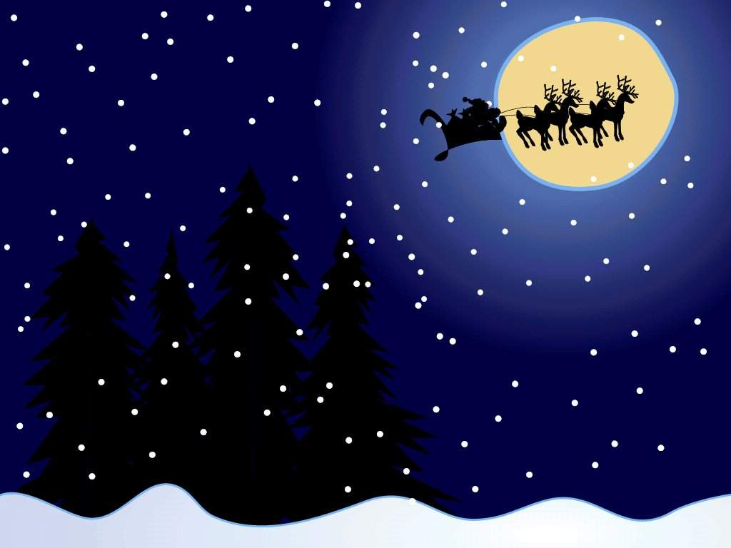 Sfondi Natale - Sfondo Natale notte