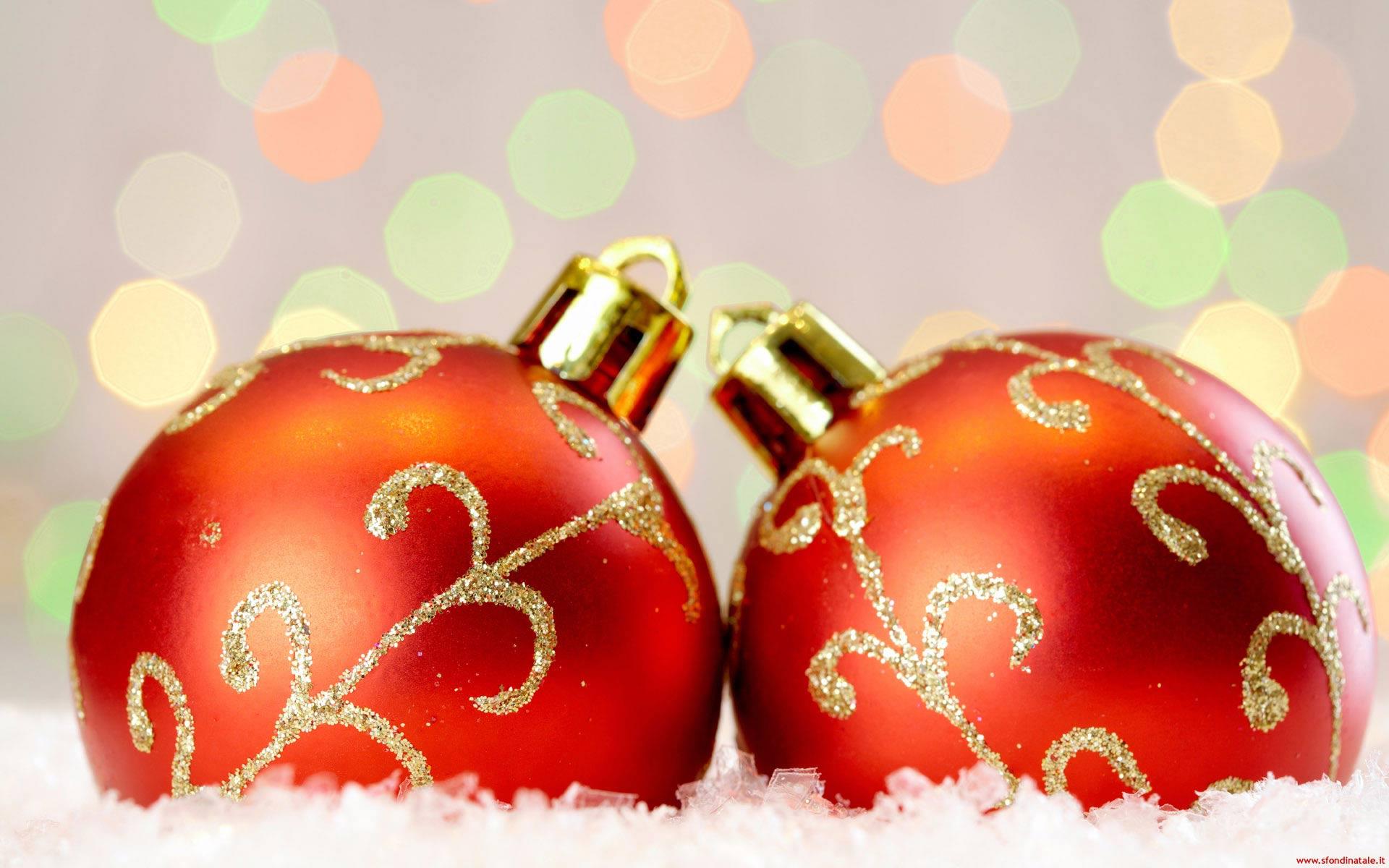 Sfondi Natale - Sfondo Palline di Natale rosse