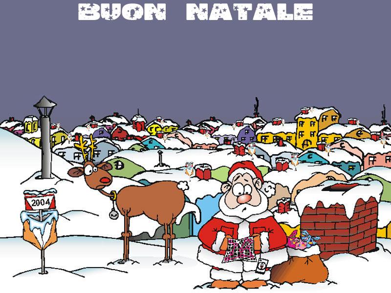Sfondi Natale - Sfondo natalizio simpatico Babbo Natale