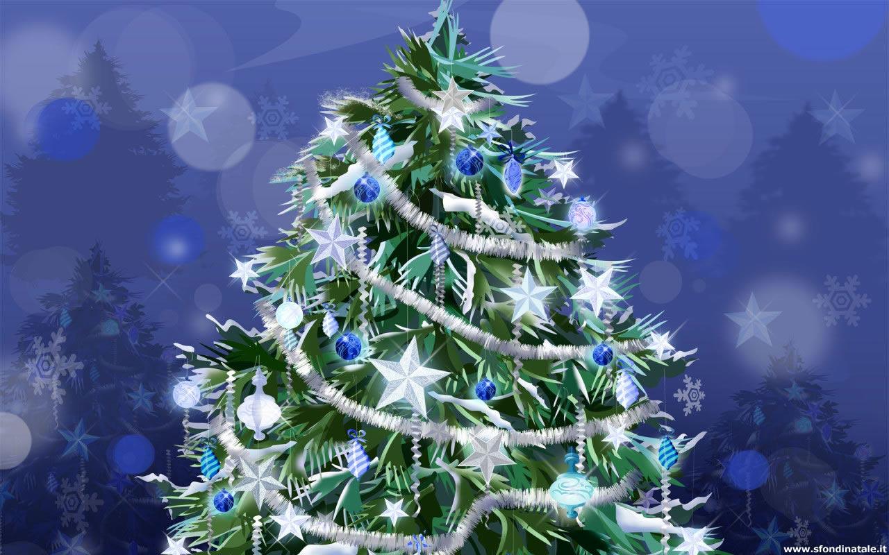Sfondi Natale - Sfondo Albero di Natale decorato