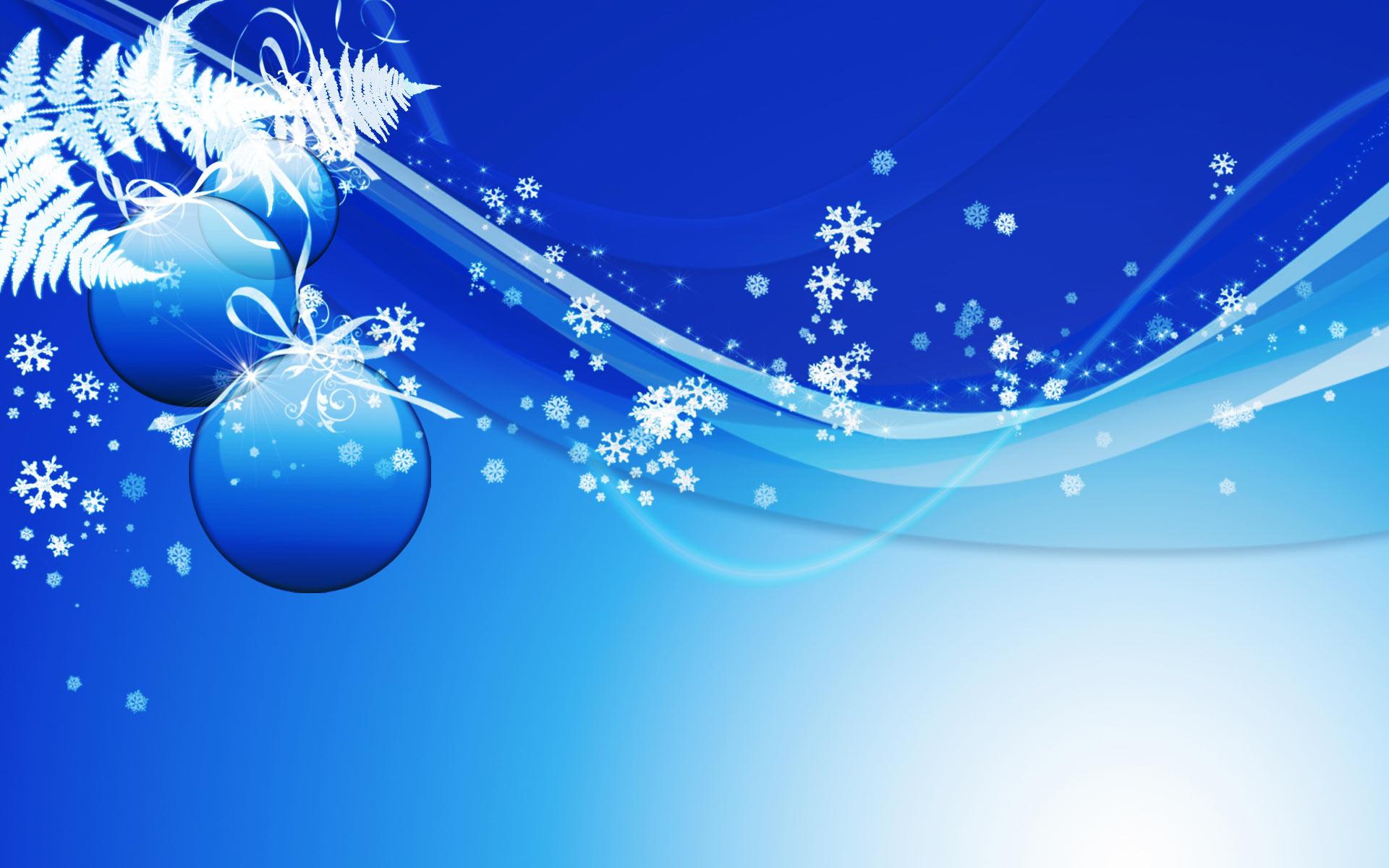 Sfondi Natale - Sfondo Natale azzurro