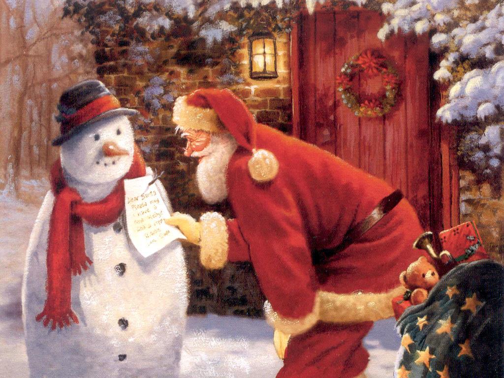 Sfondi Natale - Sfondo natale di Babbo Natale
