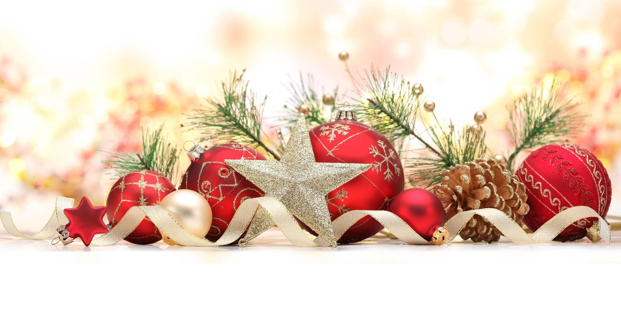 Sfondi Natale - Sfondo Palline Natalizie