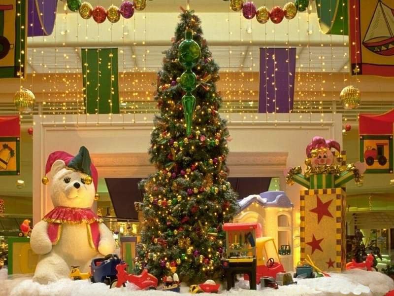 Sfondi Natale - Sfondo natale addobbi
