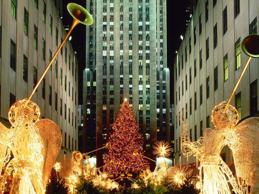 Sfondi Natale - Sfondo Natale decorazioni strada