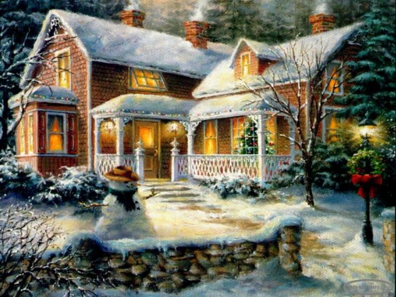 Sfondi Natale - Sfondo Natale innevato