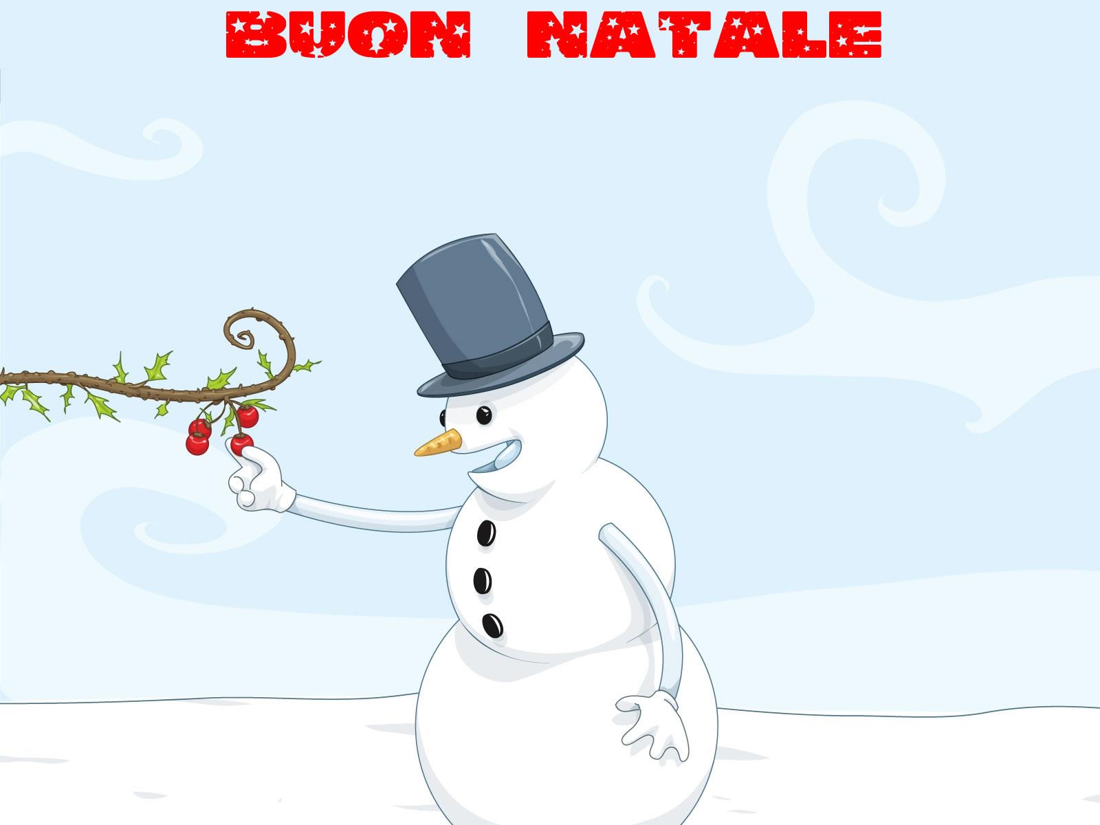 Sfondi Natale - Sfondo Natale pupazzo di neve